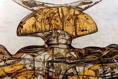 Arquitectura del pensamiento - Detalle - Tamaño 110x110 cm. Año 2001.