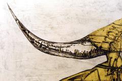 Del pasado al futuro - Detalle - Tamaño 110x110 cm. Año 2001.